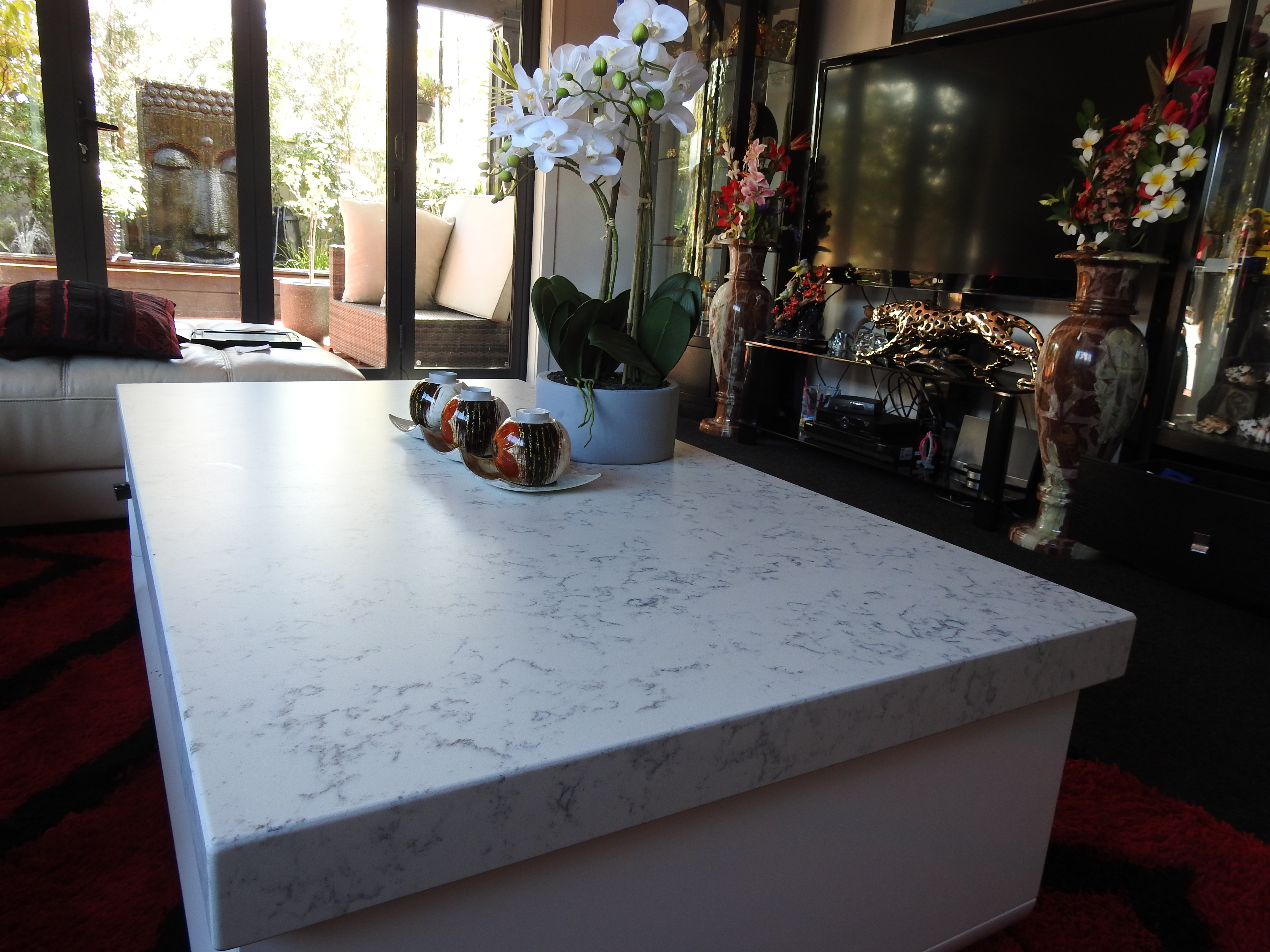 Coffee Table with quartz topping